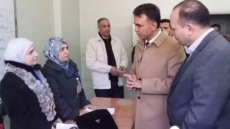 وزير التربية يقوم بجولة تفقدية برفقة مدير تربية ريف دمشق