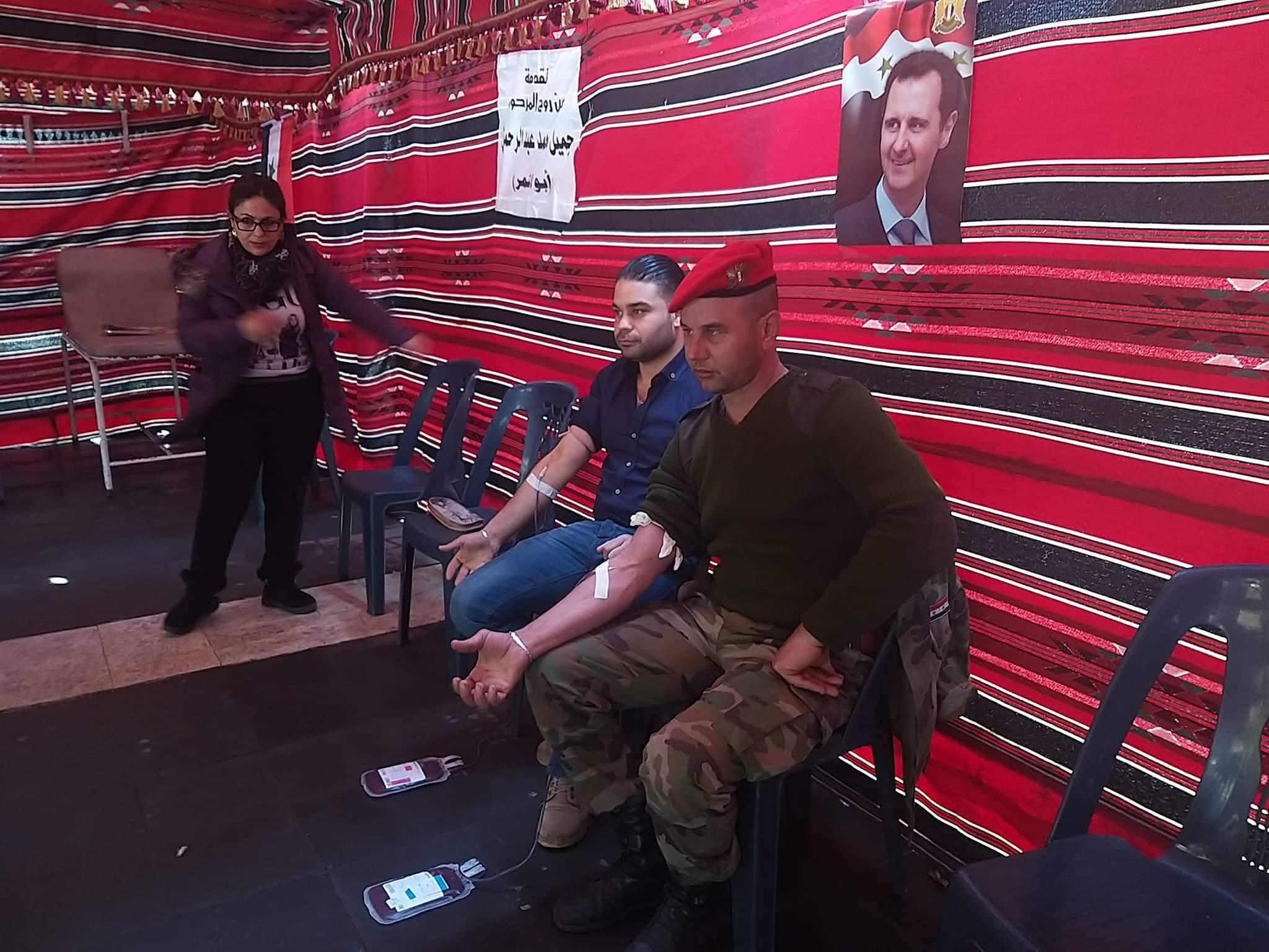 طن دم من أهالي طرطوس للجيش العربي السوري