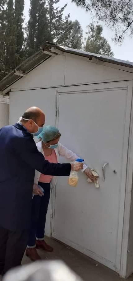 حملة التنظيف والتعقيم من مرض (كورونا) في ثانوية الشهيد عبدالعزيز العلي في القرداحة