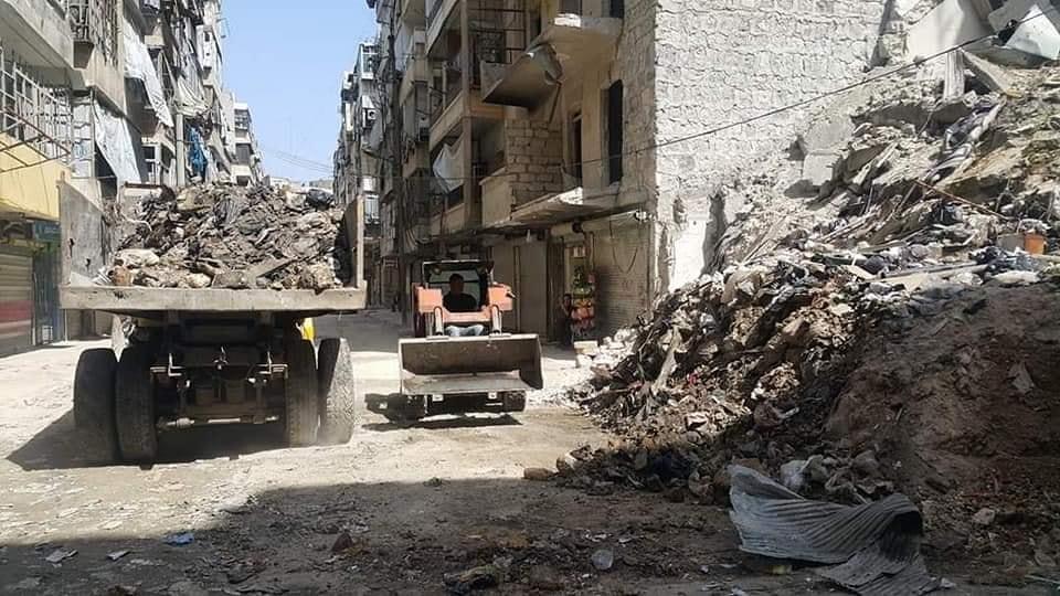 استجابة سريعة من محافظة حلب بخصوص شكوى أهالي حي الشعار