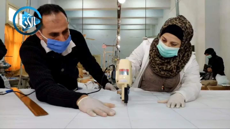 بدء الثانويات المهنية بحلب بتصنيع الكمامات....للوقاية من فايروس كورونا