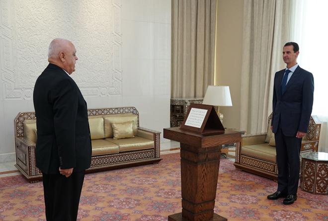 أمام الرئيس الأسد… بارسيك وكريشاتي وشربك وخليل يؤدون اليمين القانونية محافظين جدداً لمحافظات حمص والقنيطرة ودرعا والحسكة