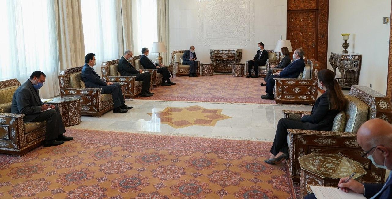 الأسد يستلم رسالة إيرانية مفادها : إيران ستبقى إلى جانب سورية في مواجهة الحصار الأمريكي