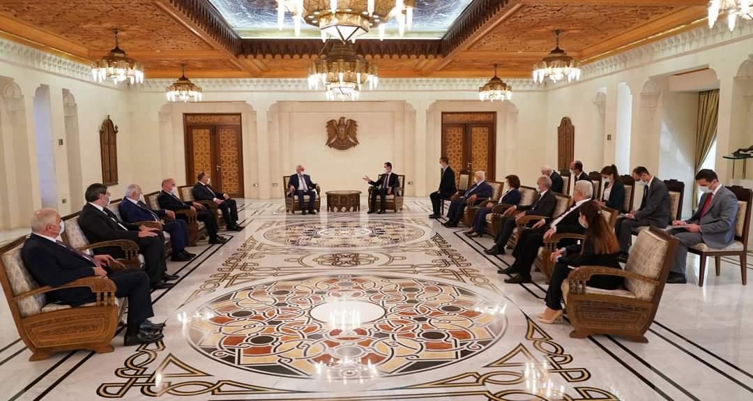 الرئيس الأسد يستقبل وفد أبخازيا والحديث عن شراكة اقتصادية بين البلدين