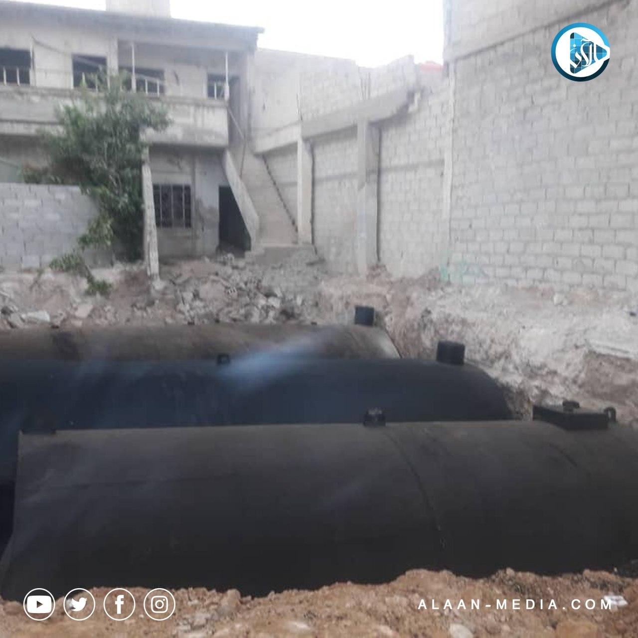 مخالفة قد تودي بكارثة في إحدى بلدات ريف دمشق