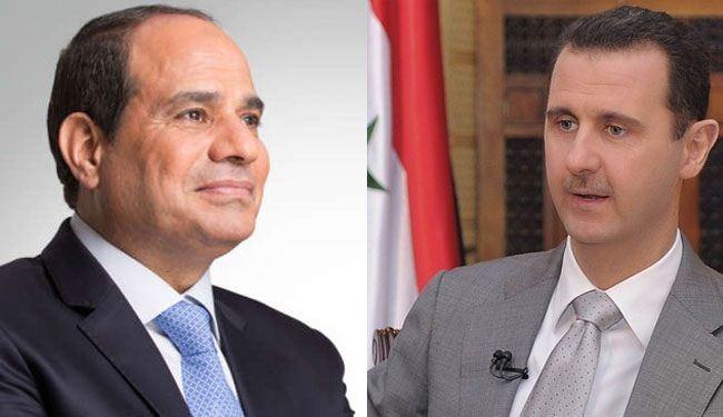 تحضيرات لتواصل مباشر بين الرئيسين الأسد والسيسي